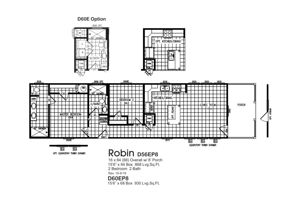 Robin D56EP8 D60EP8 Floorplan
